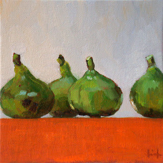 Figs on Orange by Liza Hirst