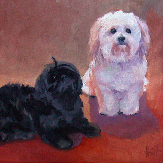 Toby and Balzac by Liza Hirst