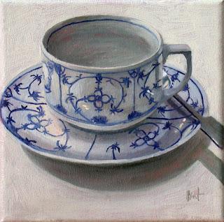 Blue onion by Liza Hirst
