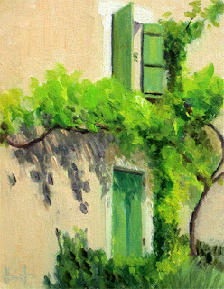 Green Shutters by Liza Hirst