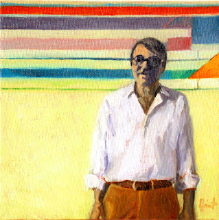 Richard Diebenkorn with Ocean Park No.123 by Liza Hirst