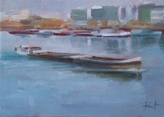 Barge on the Seine 2 by Liza Hirst