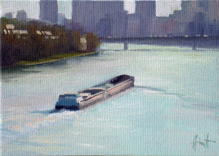 Barge in Paris 2 by Liza Hirst