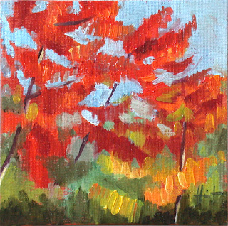 Rhus Tree in Autumn by Liza Hirst
