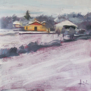 Coure in winter by Liza Hirst