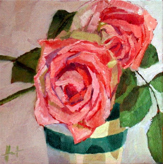 First Roses by Liza Hirst