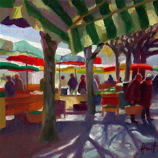 French Market in Spring by Liza Hirst