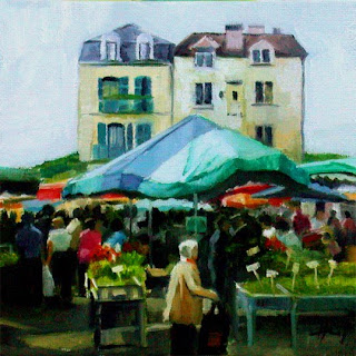 Summer Market by Liza Hirst