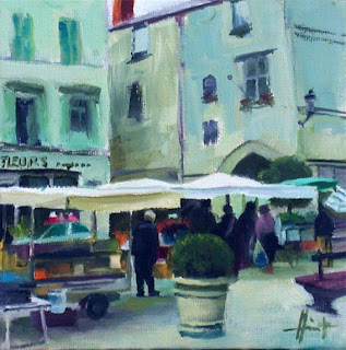 Market Perigueux IV by Liza Hirst