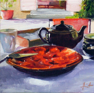 Tea in the Garden by Liza Hirst