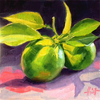 Green Oranges by Liza Hirst