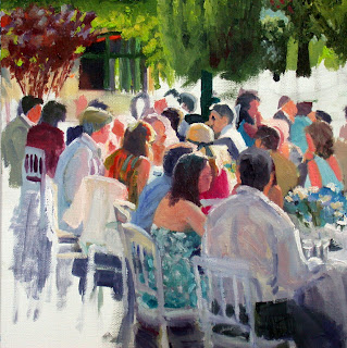 Wedding in France, detail by Liza Hirst