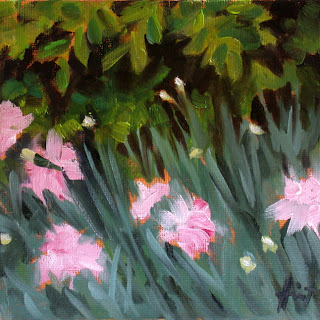 Pink carnations and Box by Liza Hirst