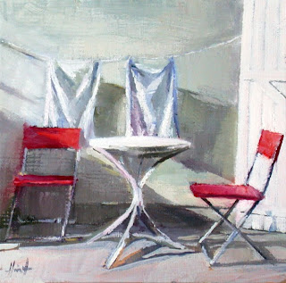On the Patio by Liza Hirst