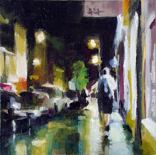Night on Upper Street, London by Liza Hirst
