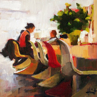 Breakfast at Otto Lenghi's by Liza Hirst