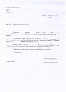 Primjeri knjiženja u računovodstvu - Knjigovodstvo: Kako napisati molbu za po...