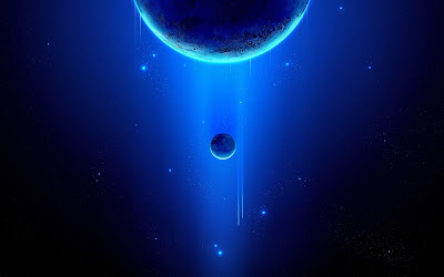Blue Beautful space Background