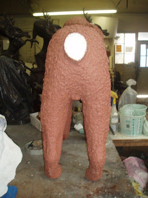 dog sculpture mold fabrication