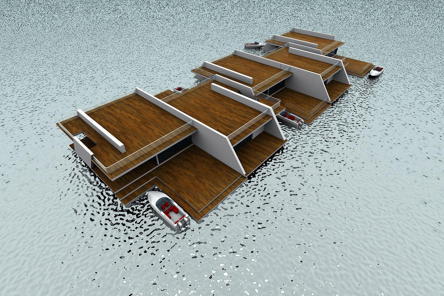 Modernist Floating Homes