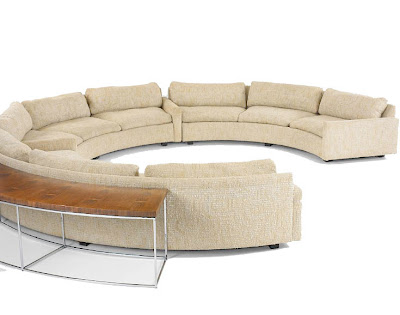 Factory Direct Leather Furniture on Round Shape Sofa F282   Leather Sofas     Modern Furniture   San