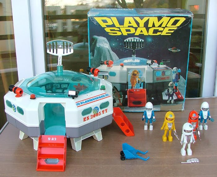 Classic 1980s Toy Playmospace Playmobil Space Modern