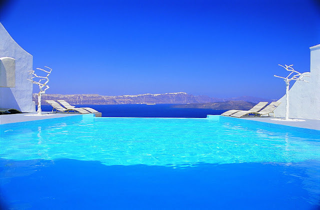 Swimming pool design modern design by - Santorini infinity pool ...