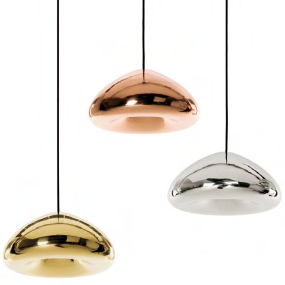 Tom dixon void light modern design by moderndesign tom dixon void light pendant lamps pictured from left to right in brass copper and stainless steel tom dixon united kingdom aloadofball Choice Image