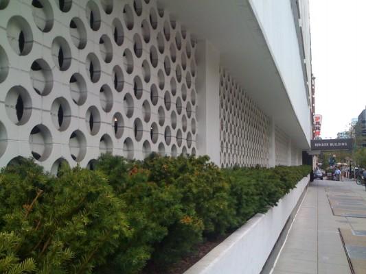 Architectural Screen Walls : Mid century decorative concrete screen block modern