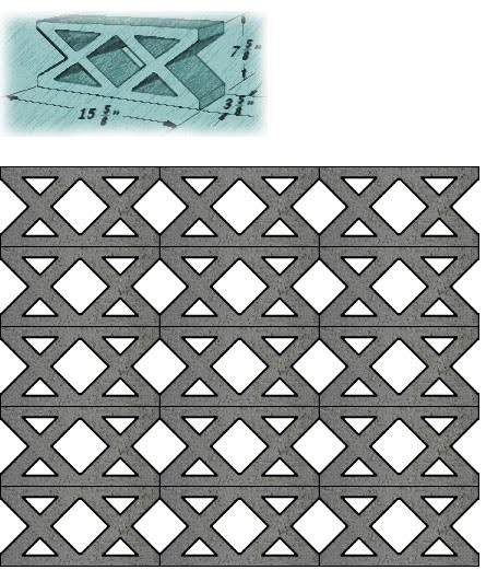 mid century decorative concrete screen block - Decorative Concrete Block