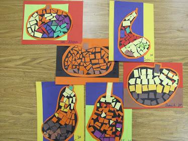 1st grade Fall Mosaics