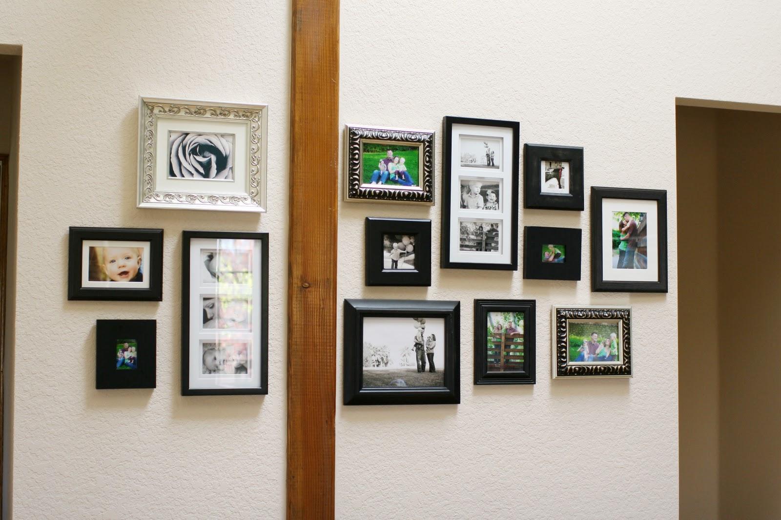 our wall of frames. Black Bedroom Furniture Sets. Home Design Ideas