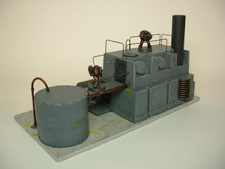 warhammer 40k terrain scenery scinec fiction pulp industrial plant 25-28 mm