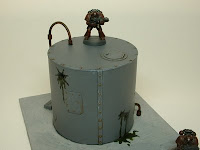 40k warhammer pulp terrain battle damaged storage tank 25-28 mm