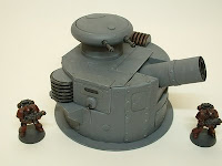 40K warhammer wargame terrain 25-28 mm heavy cannon turret