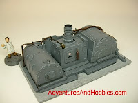 terrain mad science pulp steampunk power generator laboratory equipment warhammer 40k 25-30 mm science fiction miniatures