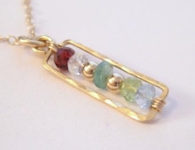 unique custom handmade sterling silver gold filled birthstone necklace