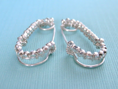 sterling silver safety pin earrings
