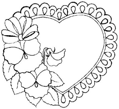valentine coloring pages cute