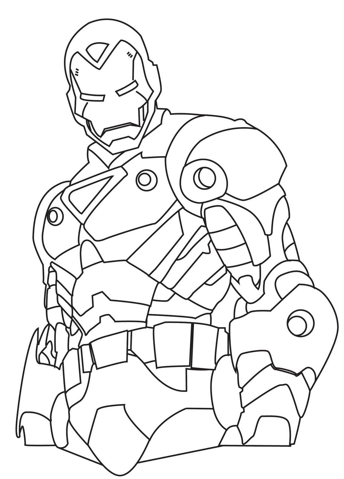 Line Coloring Pages Iron Man 2 Coloring Pages Collections
