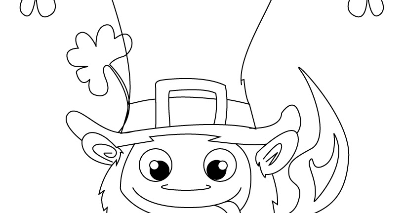 coloring pages  funny leprechaun coloring page
