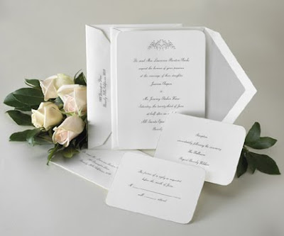pure white wedding invitations