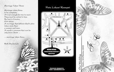 wedding invitations with map