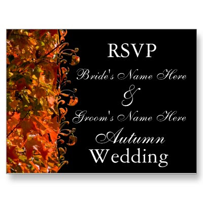 RSVP Template Design For Your Elegant Wedding Invitations