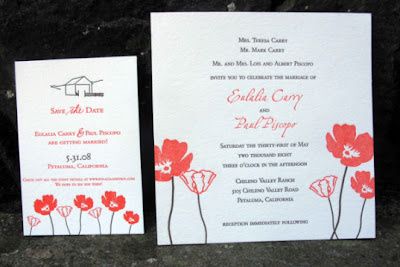 red flower themed wedding invitations designs