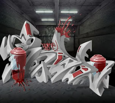3d graffiti smack