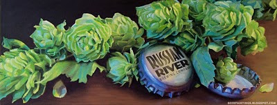 Russian River painting Pliny the Elder beer art