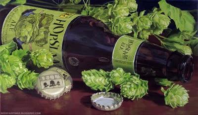 Bells Hopslam original oil painting beer art