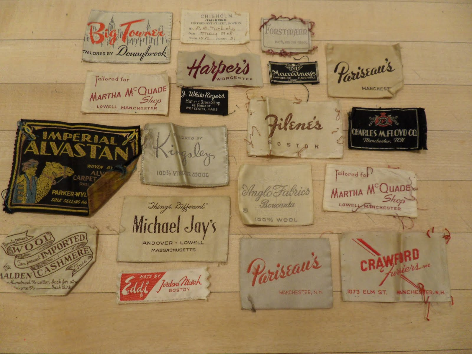 reclaimed crafts vintage clothing labels