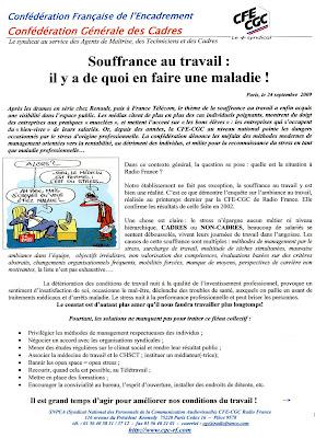 SNPCA - CFE-CGC Radio France: Souffrance au travail ...